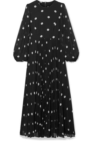 Zimmermann Dresses Sunray pleated polka-dot georgette maxi dress