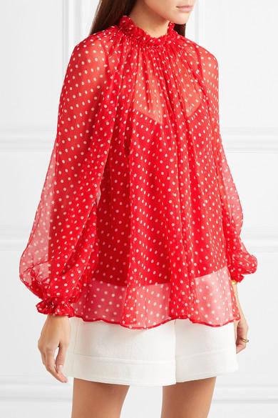 Zimmermann Tops Ninety-Six Swing polka-dot silk-georgette blouse