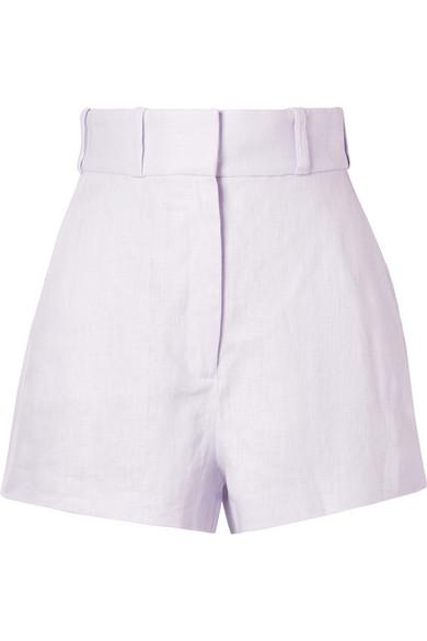 Zimmermann Shorts Ninety-Six Racer linen shorts