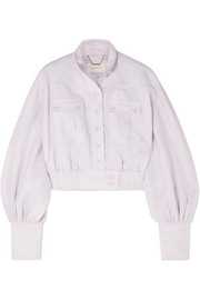 Zimmermann Ninety-Six Racer cropped linen jacket