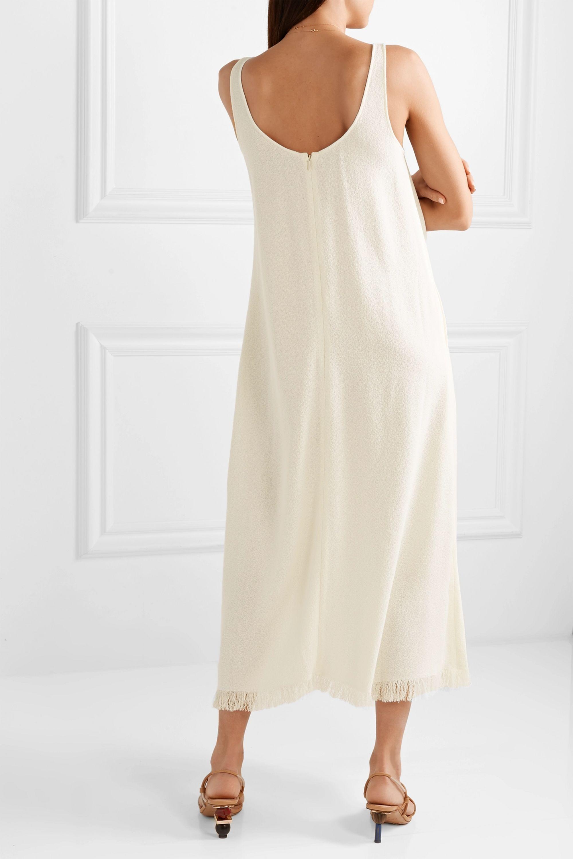 Co Fringed crepe maxi dress