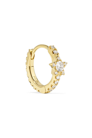 MARIA TASH Star Eternity 8Mm 18-Karat Gold Diamond Earring