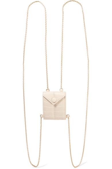 Nanushka Shoulder bags Tove mini croc-effect vegan leather shoulder bag