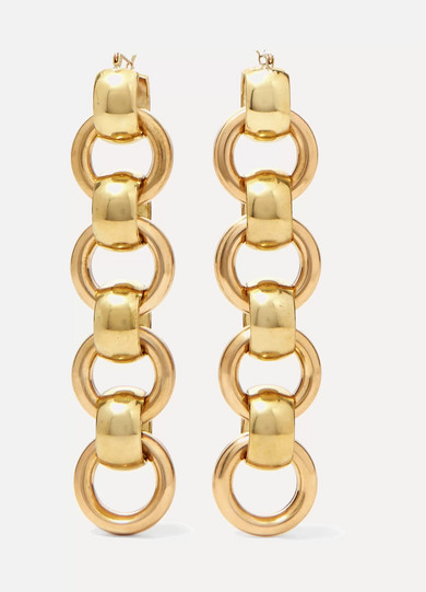 Lita Gold Tone Earrings by Laura Lombardi