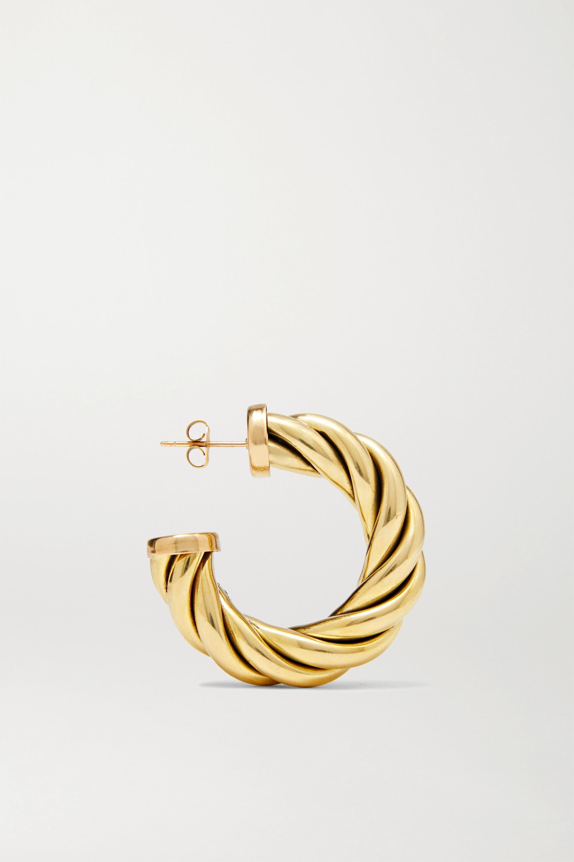 Laura Lombardi Spira gold-tone hoop earrings