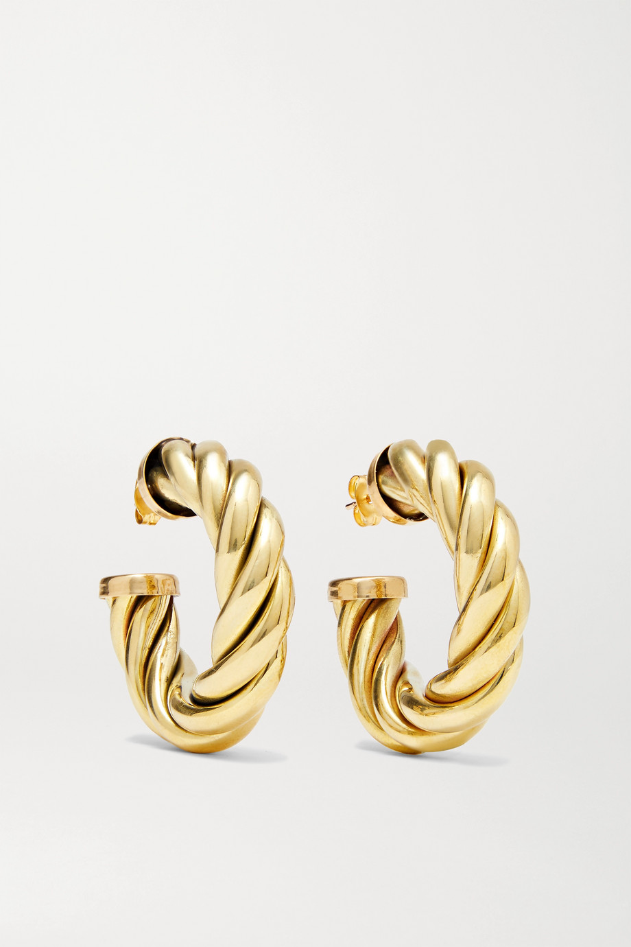 Laura Lombardi Spira gold-tone hoop earrings