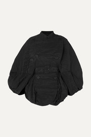 Simone Rocha Cape-effect crinkled-taffeta coat