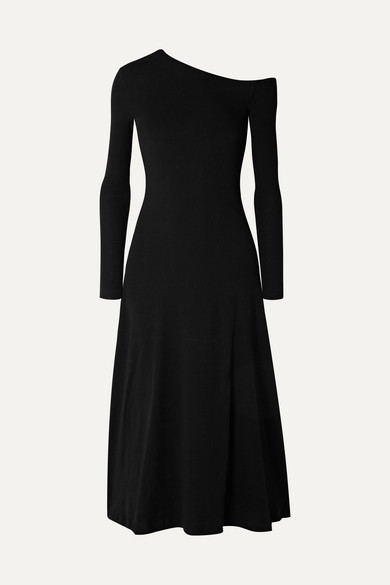 Rosetta Getty Dresses One-shoulder cotton-jersey midi dress