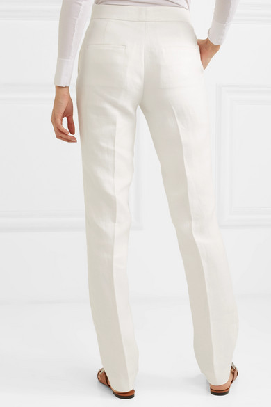 Helmut Lang Pants Hemp and cotton-blend tapered pants