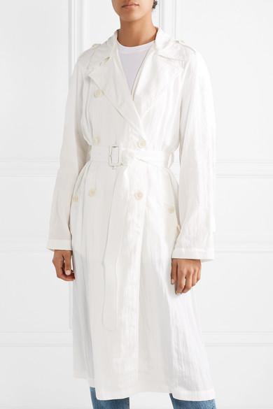 Helmut Lang Coats Boiler belted crinkled-satin trench coat