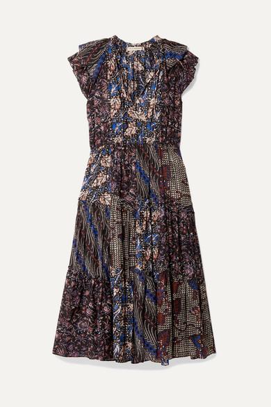 Ulla Johnson Dresses Asis printed cotton and silk-blend midi dress