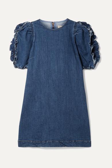 Ulla Johnson Dresses Poppy ruffled denim mini dress