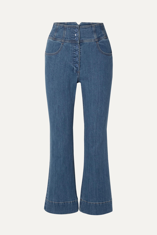 Ulla Johnson Ellis cropped high-rise flared jeans