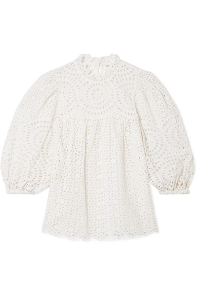 a00367fbae55ff Ulla Johnson | Lenna broderie anglaise cotton blouse | NET-A-PORTER.COM