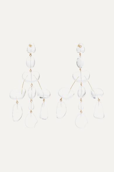 Cult Gaia Jewelry Sloane Rock oversized acrylic earrings