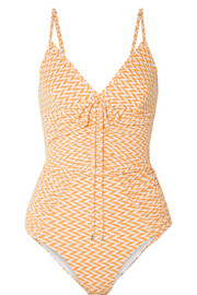 Ruched textured swimsuit