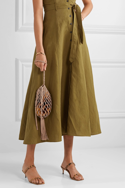 Cult Gaia Tallulah Bean macramé and acrylic shoulder bag