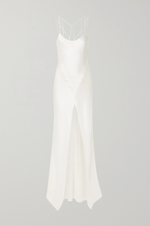 Kiki de Montparnasse Cage open-back silk-charmeuse gown