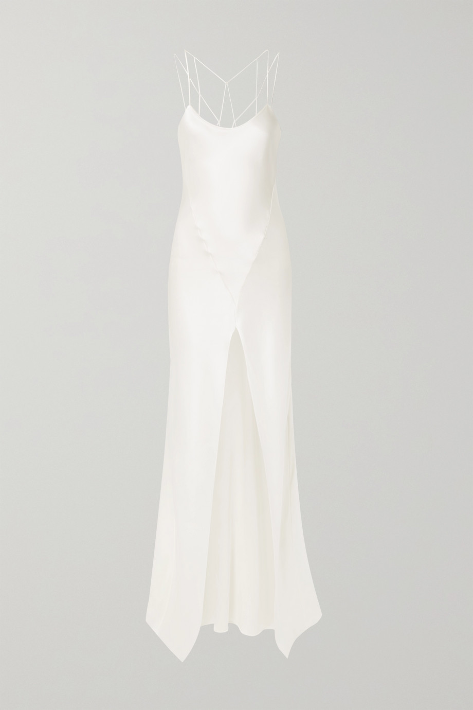 unknown Cage open-back silk-charmeuse gown