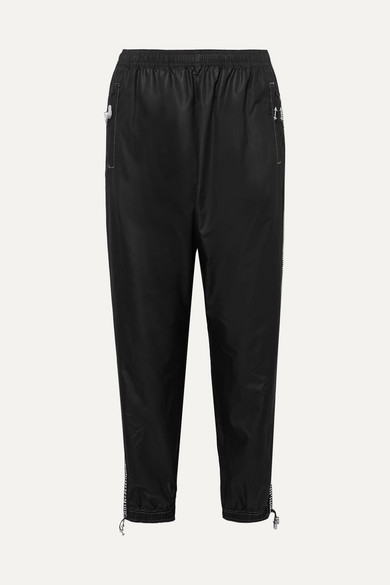 Crystal Embellished Shell Track Pants by Adam Selman Sport
