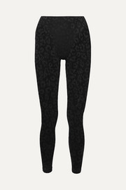 Adam Selman Sport Leopard-print stretch-mesh leggings