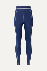 Adam Selman Sport Racer printed stretch leggings