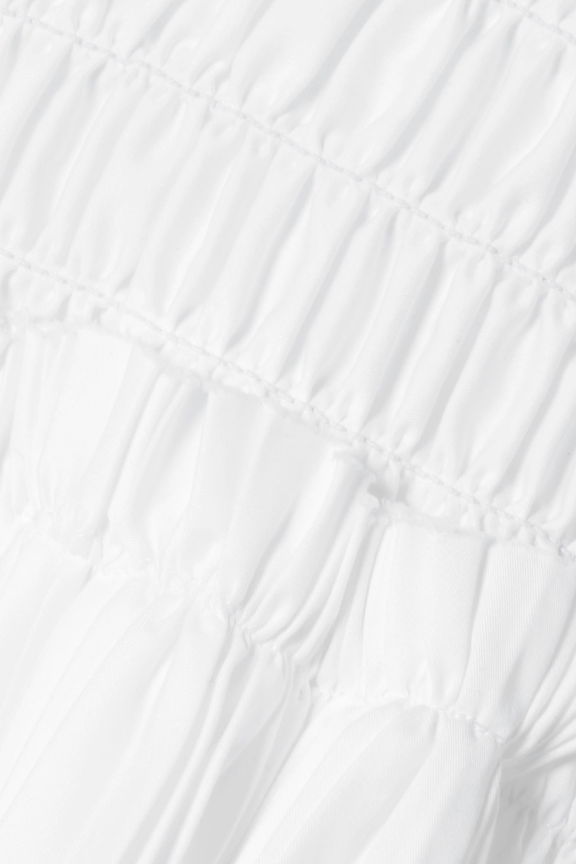 Khaite Robe en popeline de coton à smocks et à plis accordéon Delphine