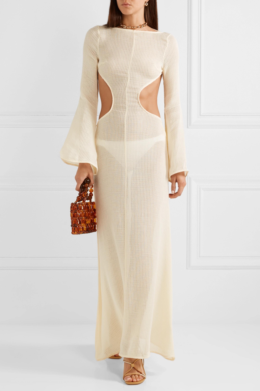 Cult Gaia Kamira open-back cotton-blend maxi dress
