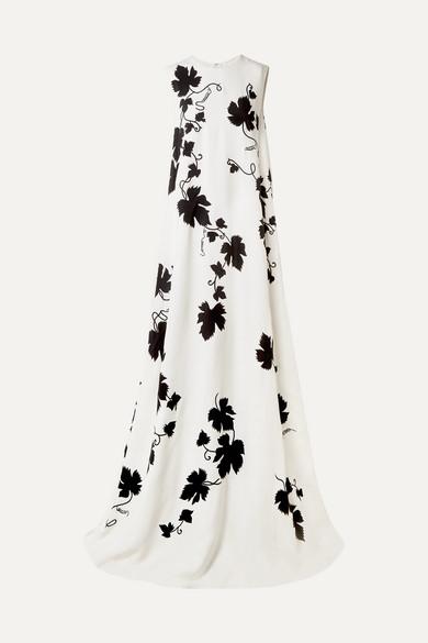 Oscar De La Renta Dresses Appliquéd embroidered cady gown