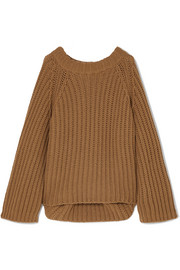 ARJÉ Oversized wool, silk and cashmere-blend sweater