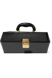 STAUD Lincoln croc-effect leather tote