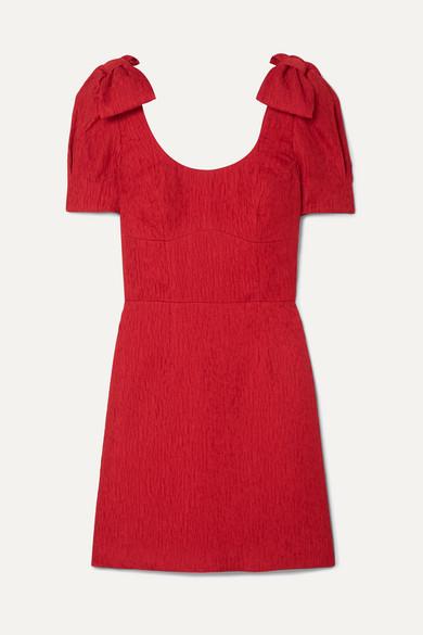 Rebecca Vallance Dresses HARLOW BOW-DETAILED CLOQUÉ MINI DRESS