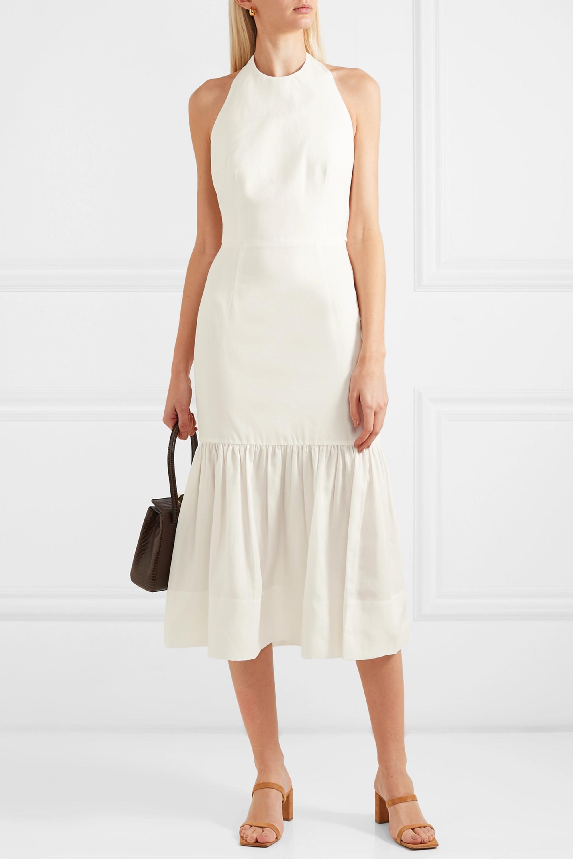 Holliday Neckholder-Kleid aus einer Lyocell-Leinenmischung zum Binden