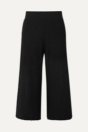 Gigi ribbed stretch-knit culottes