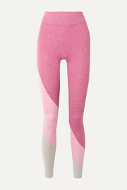 The Yin color-block stretch-jersey leggings