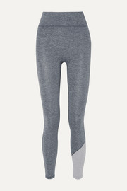 We/Me Inversion two-tone stretch-jersey leggings