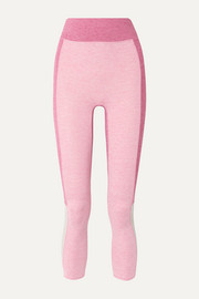 The Sunrise cropped color-block stretch-jersey leggings