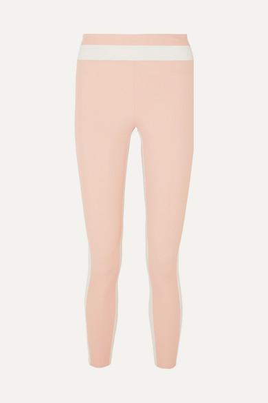 Vaara Pants FREYA TUXEDO 7/8 CROPPED STRIPED STRETCH LEGGINGS