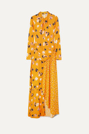Self-Portrait Floral-print stretch-crepe de chine maxi dress