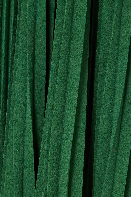 Self-Portrait Pleated chiffon gown