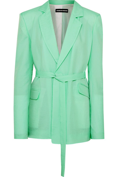House Of Holland Oversized belted ripstop blazer