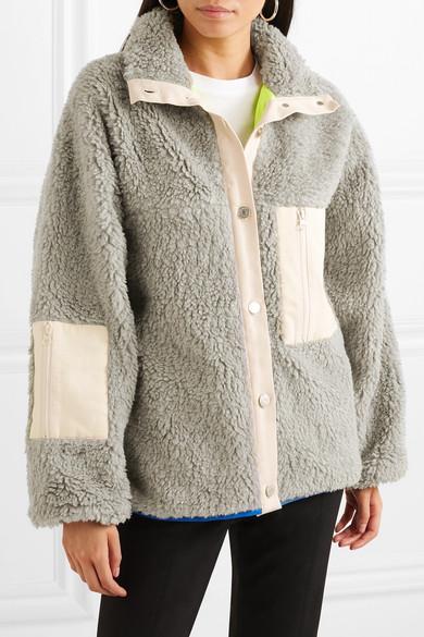 7fe5a6c46a93 Sandy Liang | Ollie ripstop-trimmed fleece jacket | NET-A-PORTER.COM