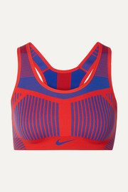 Fe/Nom striped Flyknit sports bra