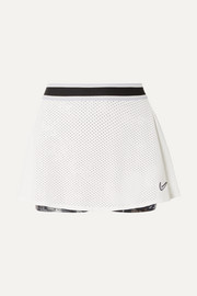 Court Essentials mesh and floral-print Dri-FIT tennis skirt