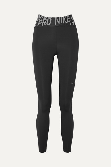 Pro Intertwist Cutout Mesh Trimmed Dri Fit Stretch Leggings by Nike