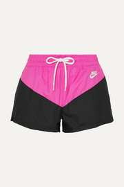 Two-tone shell shorts