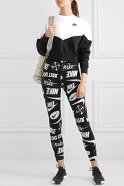 Leg-A-See printed stretch cotton-blend leggings
