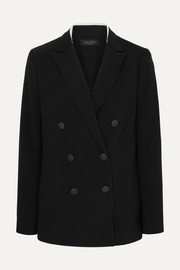 Ryan double-breasted crepe blazer
