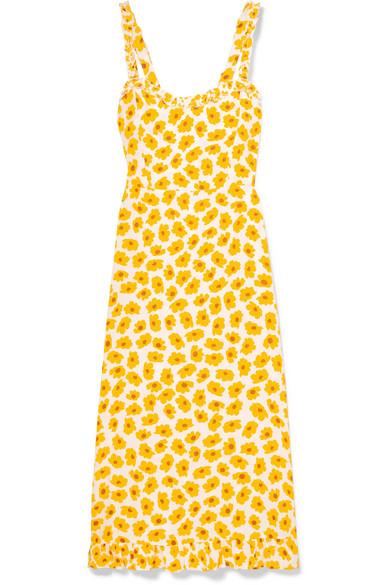 918c36b8b555 Faithfull The Brand | Noemie ruffled floral-print crepe midi dress ...