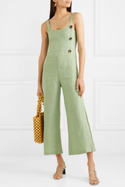 Sainte Marie shirred linen jumpsuit